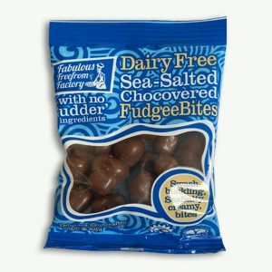 Dairy Free Sea-Salted Chococovered Fudgee Bites