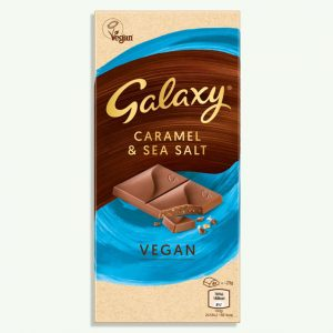 Galaxy Vegan Caramel & Sea Salt Chocolate Bar