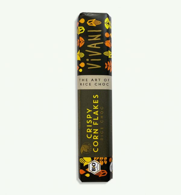 Vivani Crispy Corn Flakes rice chocolate bar