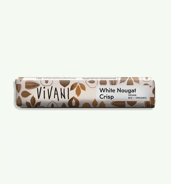 Vivani White Nougat Crisp Bar