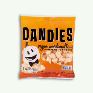 Dandies mini orange marshmallows pumpkin flavour