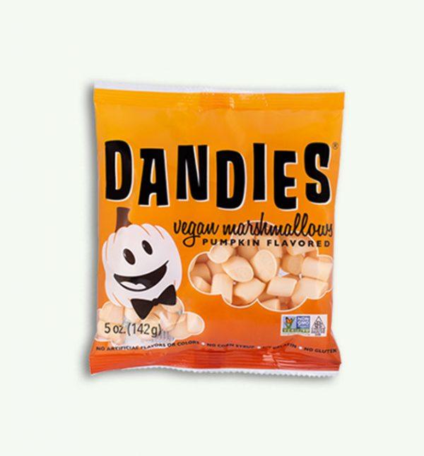 Dandies mini orange vegan marshmallows pumpkin flavour
