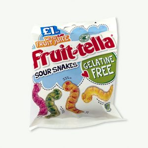 Fruit-Tella Sour Snakes Gelatine Free Sweets