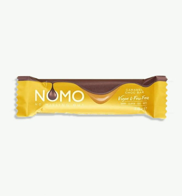 NOMO (No Missing Out) Vegan Caramel Filled Chocolate Bar