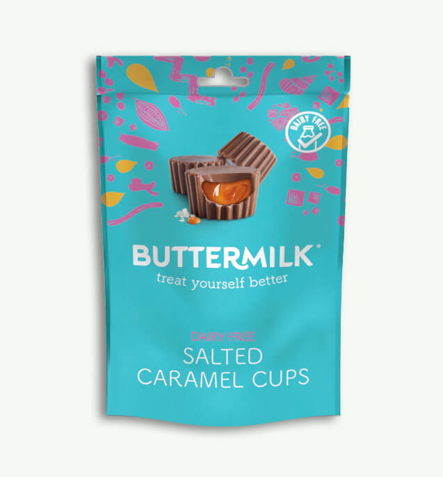 Dairy Free Buttermilk Salted Caramel Cups